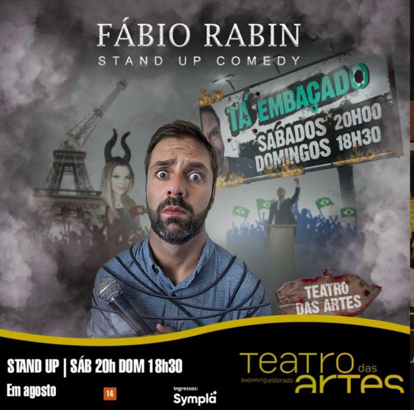 """Pacote Espetáculo """"Tá Embaçado"""" - Fabio Rabin"""